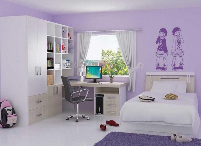 Purple Bedroom Decorating Ideas For Minimalist Home Hag Design