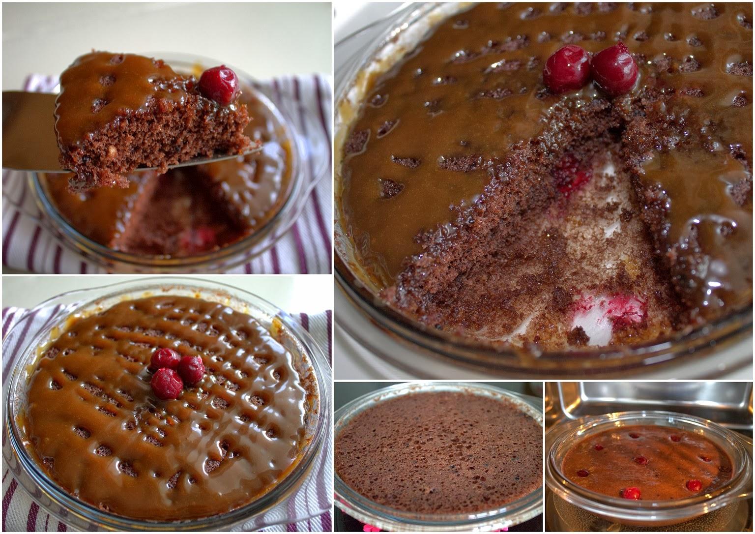 karamelli mikrodalga keki beş dakikada