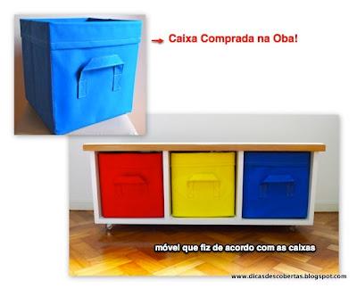 Móvel para abrigar caixas organizadoras