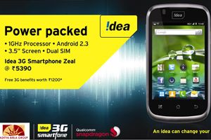 Idea launches dual-SIM 3G smartphone Zeal