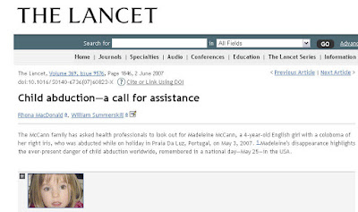 Why have the McCanns lied about Maddie's coloboma for 4 years? Lancet