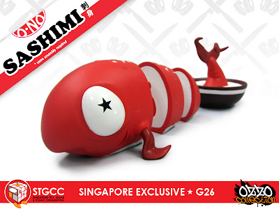 SGTCC 2011 Exclusive Redfish in Coconut O-No Sashimi Vinyl Figure by Andrew Bell