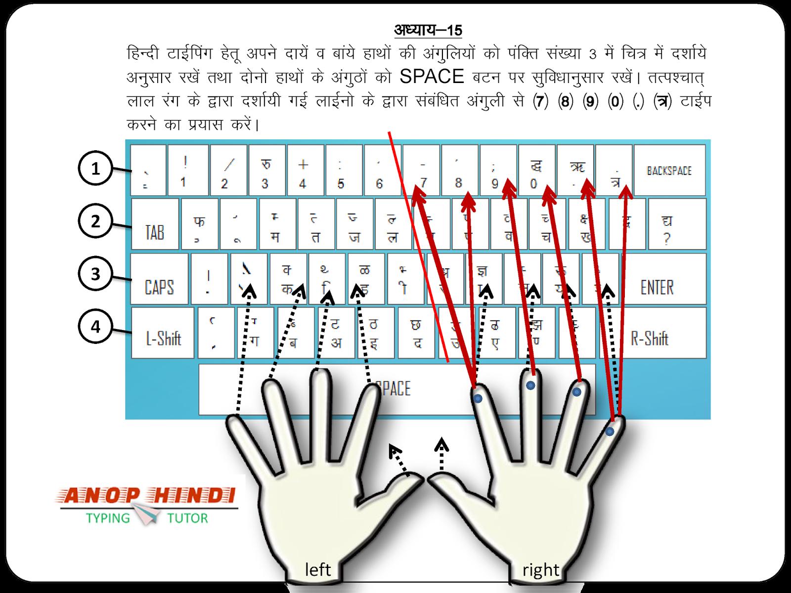 Anop Hindi Typing Tutor - Lesson 15