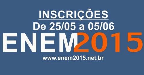 Abertas as inscrições para o ENEM 2015