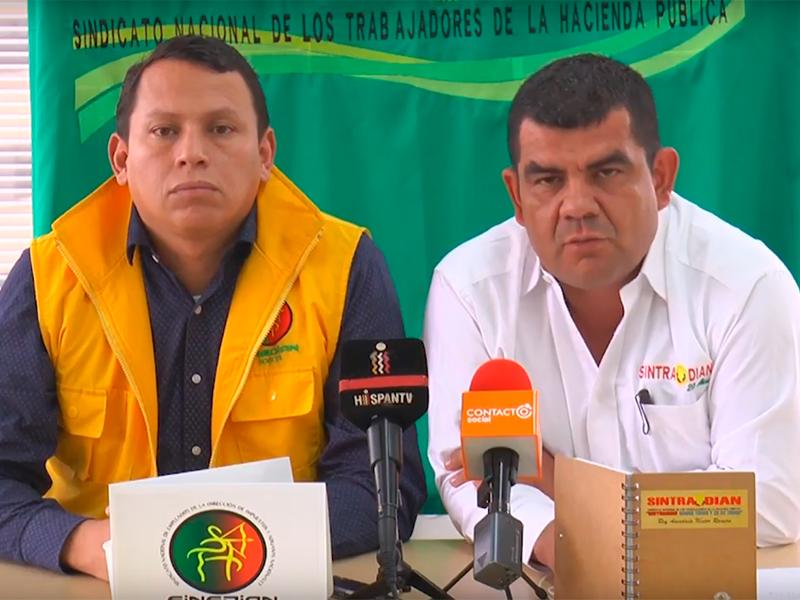 Organizaciones sindicales de la Dian se preparan para un cese de actividades