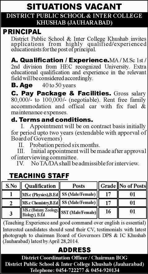 FIND  JOBS  IN  PAKISTAN  PRINCIPAL  JOBS  IN  PAKISTAN    LATEST  JOB  IN  PAKISTAN