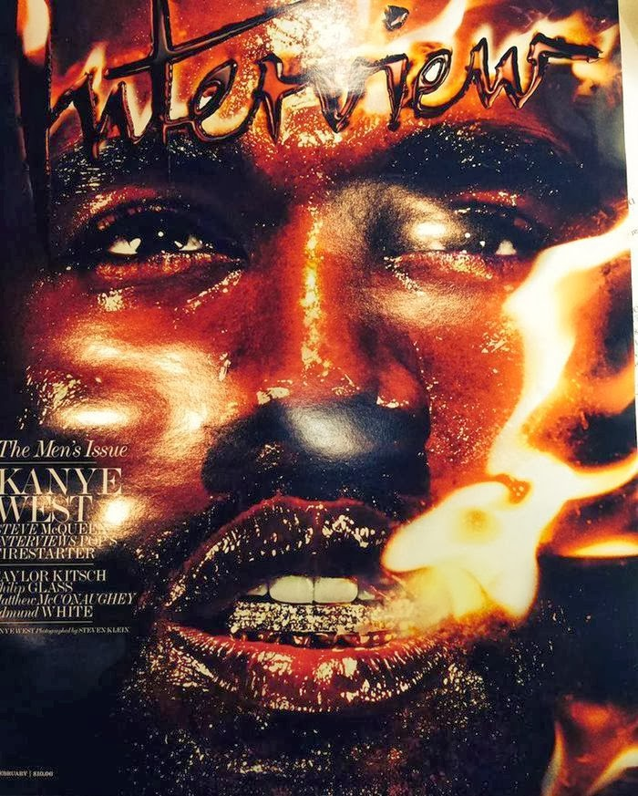 Magazine Cover : Kanye West Magazine Photoshoot Pics on Steven Klein Interview Magazine US February 2014 Issue