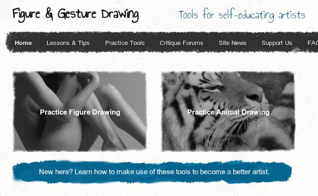Os dois tipos de arquivos que o site dispõe para as sessões de sketching.