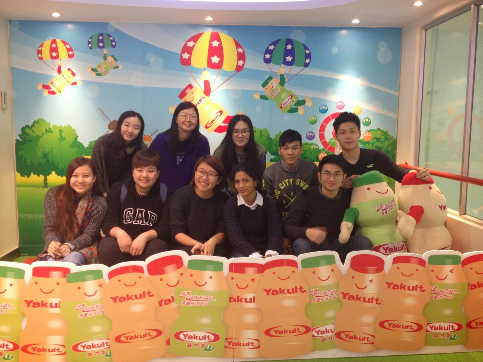 Our Group Photo Took In Yakult