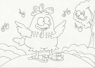 Desenhos Para Pintar Galinha Pintadinha E Colorir Lili