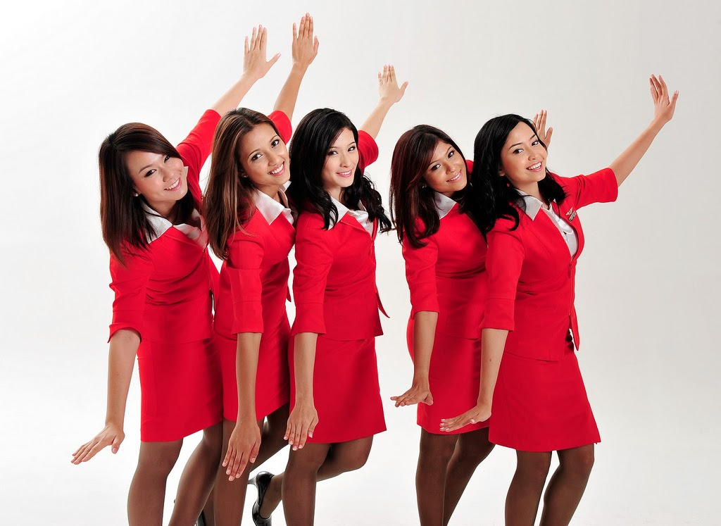 Airasia Flight Attendants Group Adv World Stewardess Crews