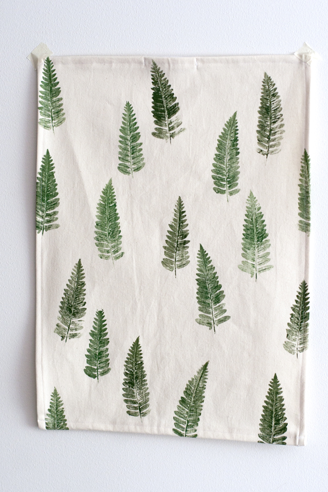 UKKONOOA Keittiöpyyhe  Tea towel with fern print