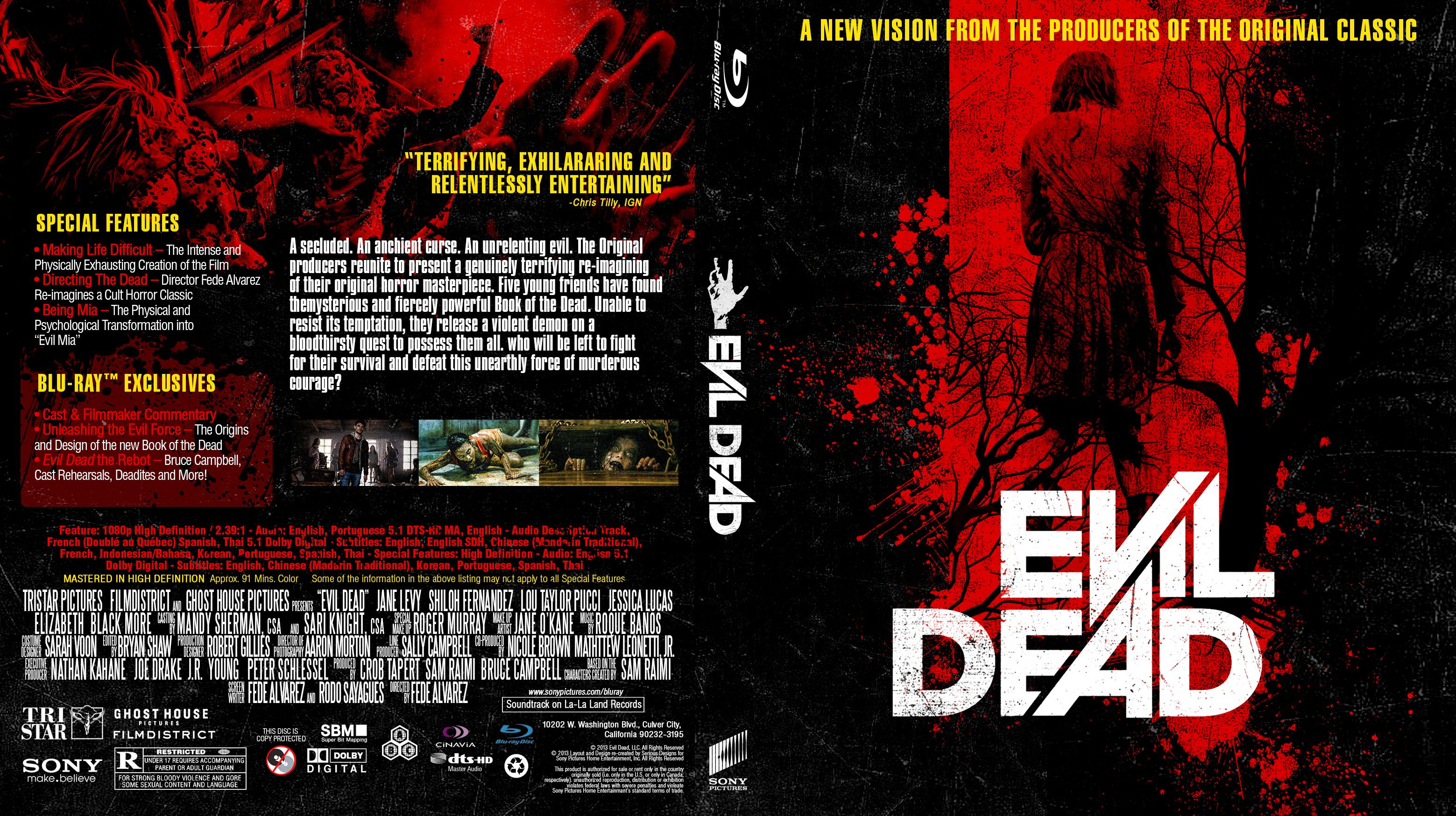Capa Bluray Evil Dead