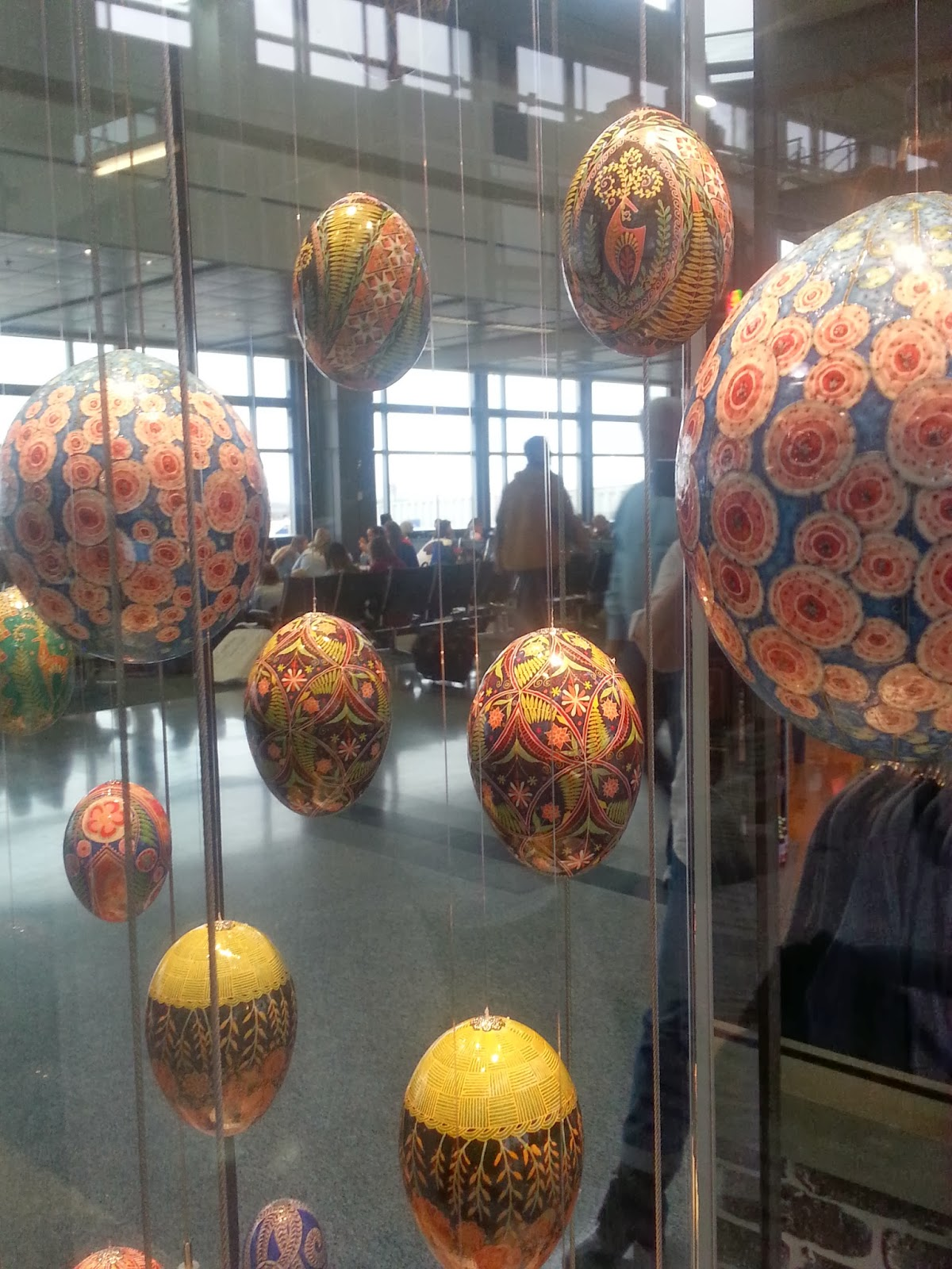 """We Are All Beautiful"" at Austin Bergstrom International Airport Pysanky Installation ©Katy David"