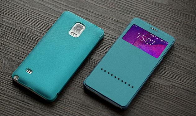 เคส Note 4 ฝาพับ Rock แท้ 143030 สีเขียว