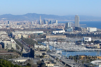 Barcelona from Alcaide viewpoint in Montjuïc