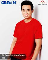 Kaos Polos Gildan Premium Red