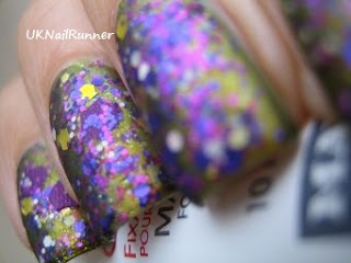 Crowstoes Cheshire over Chanel Peridot with Matt Topcoat