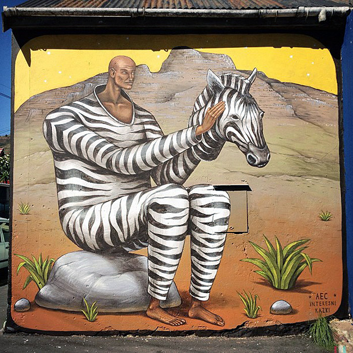 Interesni kazki new mural in cape town south africa for African mural painting