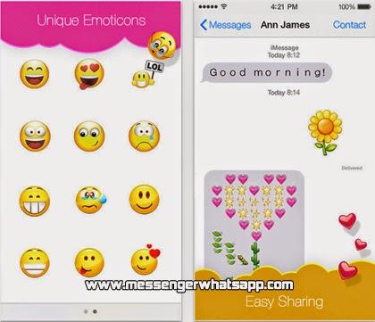 Descarga Emojis Keyboard en tu iPhone  iOS 7 con WhatsApp.