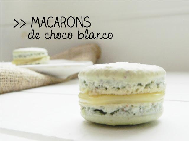 Macarons de chocolate blanco