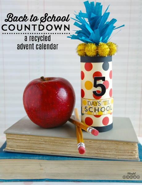 Back to School Countdown {A Recycled Advent Calendar} @ Blissful Roots
