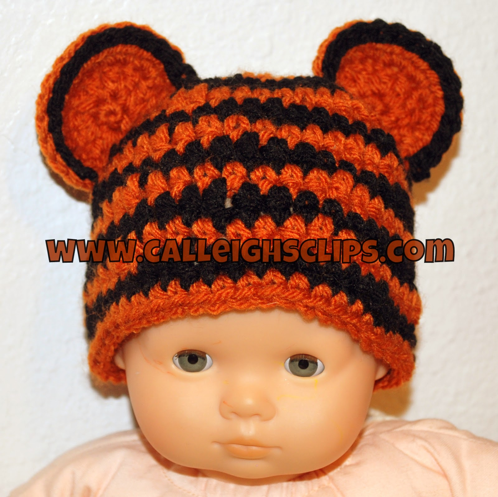 Calleighs Clips & Crochet Creations: Preemie Tiger Hat ...