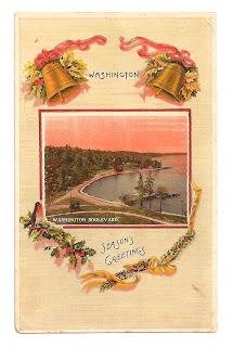 Christmas Vintage Clip Art Postcard