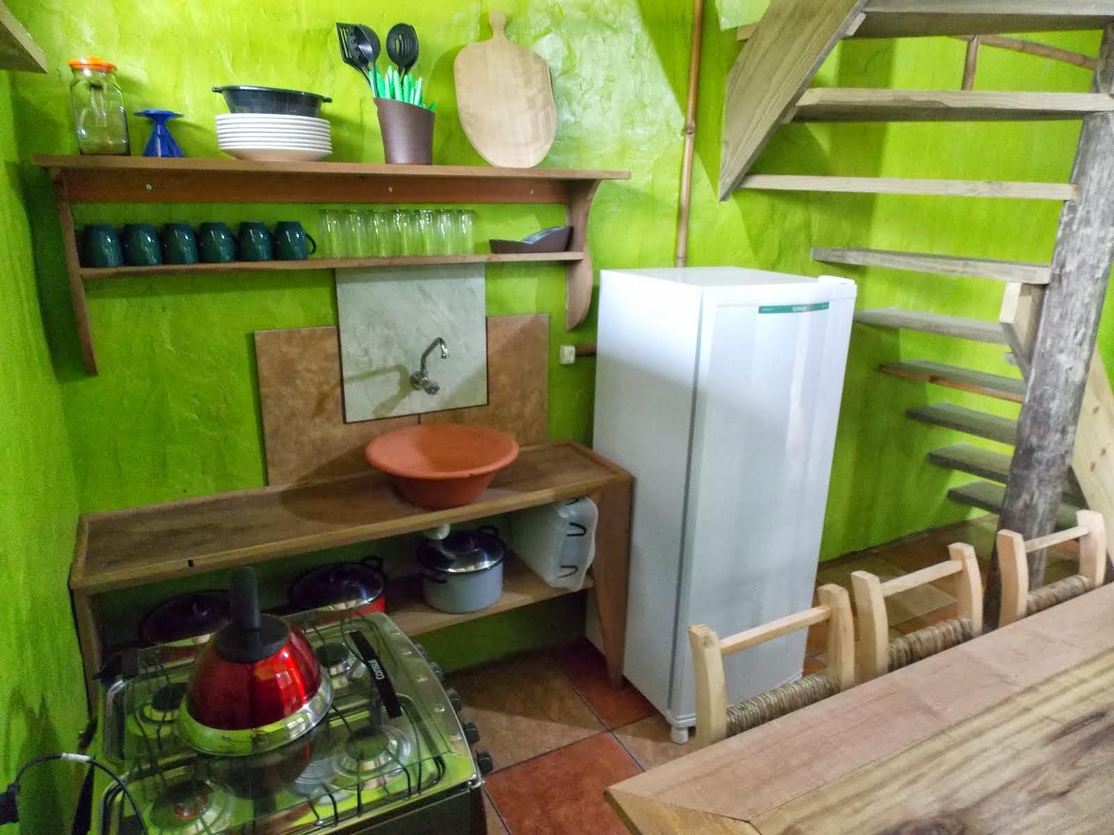 Cabana 8 cozinha completa