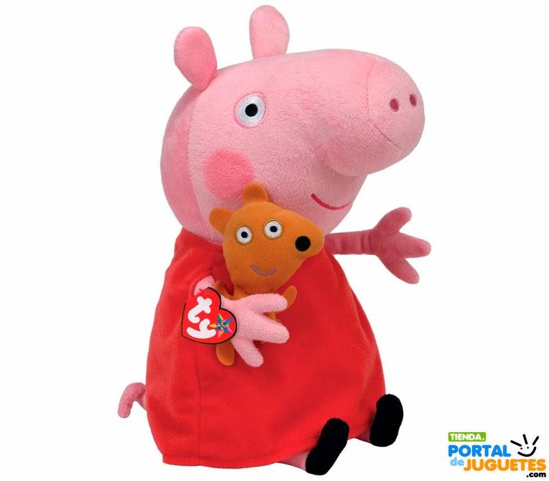Peluche Peppa Pig Vestido Rojo Osito de 25 cm