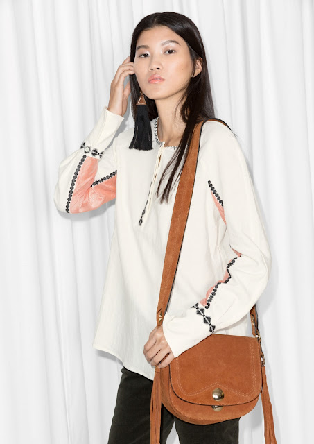 cream coral print blouse,