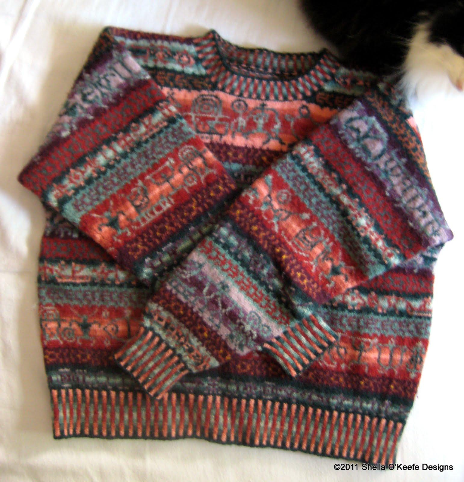 Sheila O'Keefe Designs: Hawaiian Petroglyph Sweater