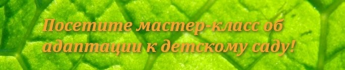 "Санкт-Петербург: мастер-класс ""Адаптация ребёнка к детскому саду"""