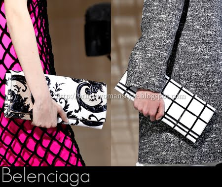 Belenciaga черно-бели чанти клъч