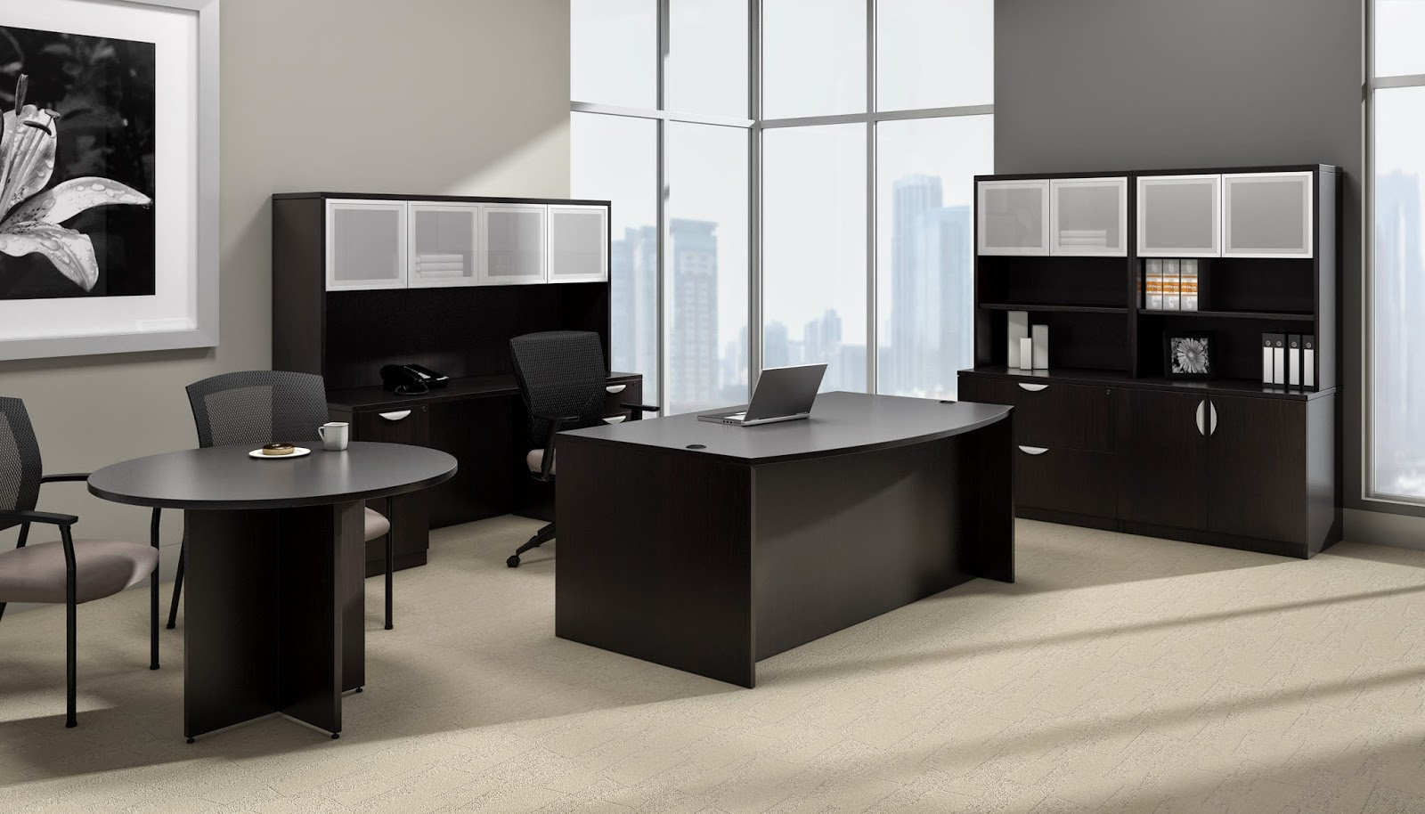 Offices To Go Espresso Desk Configuration