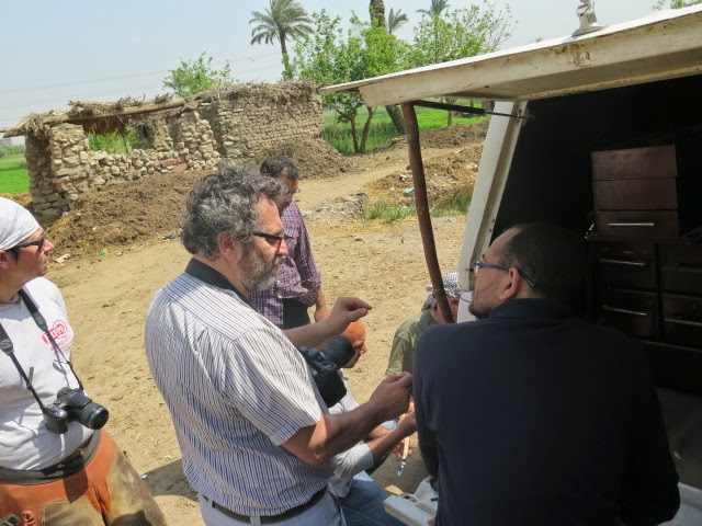 Dr. Sergio Forapani chatting with Dr. Mohsen Mohsen (right)