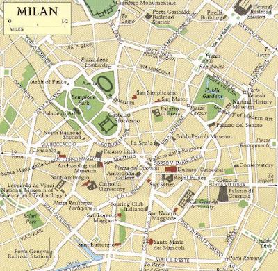 Pianta della Città di Milano
