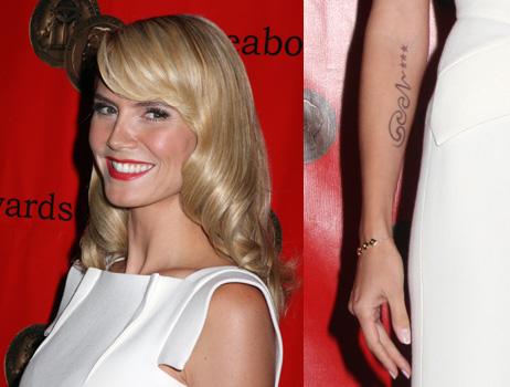 Heidi Klum Tattoo Language