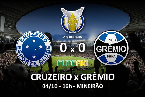 Veja o resumo da partida com os melhores momentos de Cruzeiro 0x0 Grêmio pela 29ª rodada do Brasileirão 2015.