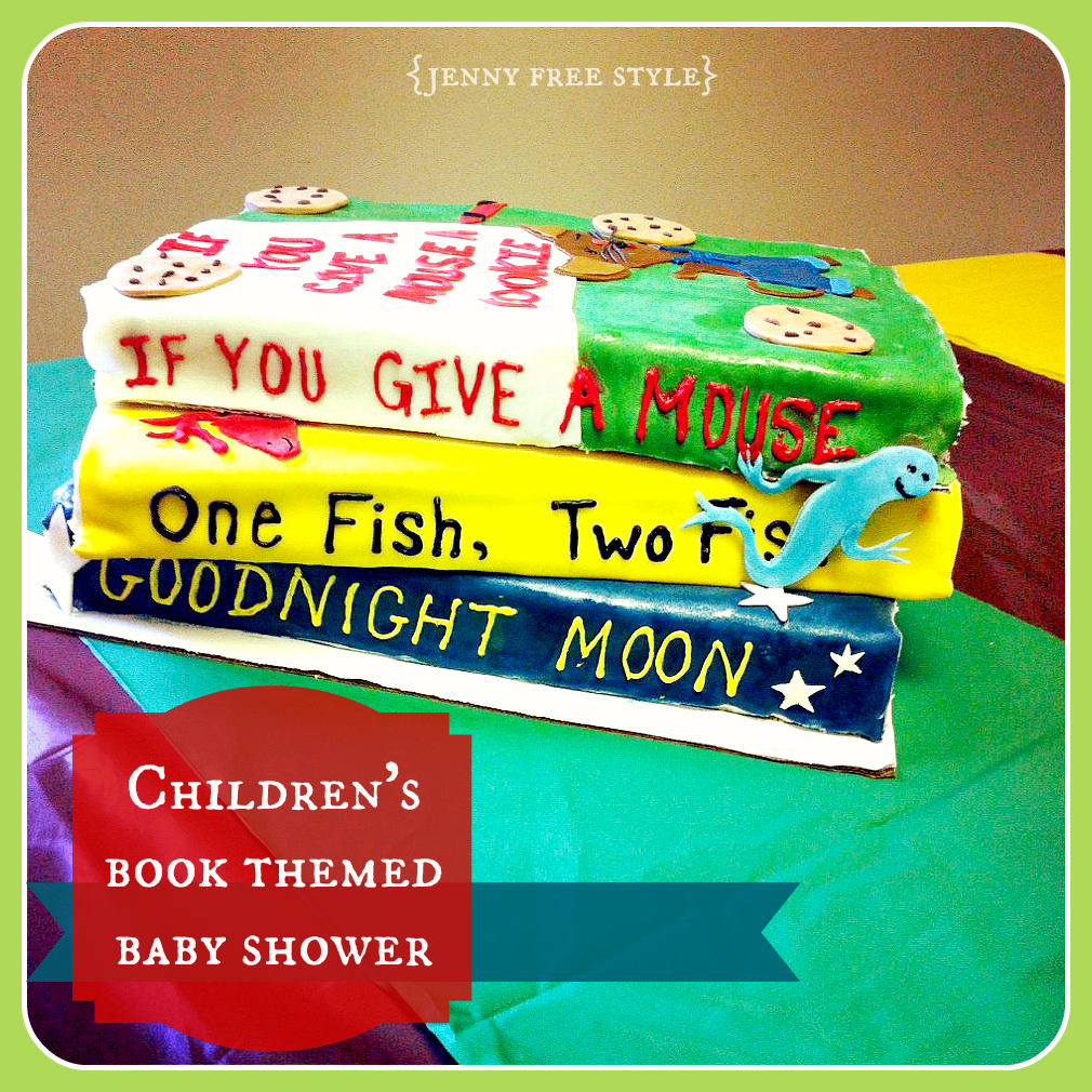 jenny free style children 39 s book themed baby shower