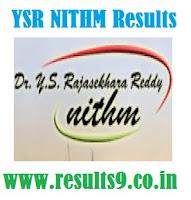 YSR NITHM BBA T/H VIII Semester Results 2013
