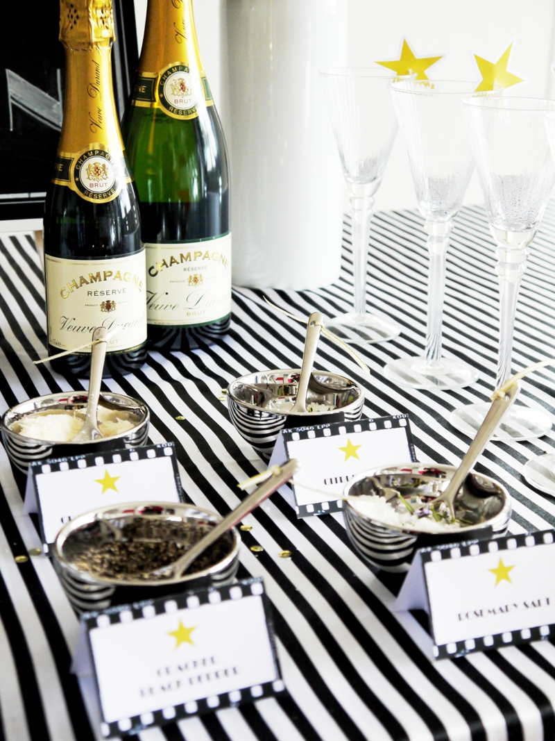 Oscars Viewing Party: DIY Popcorn Bar & Printables