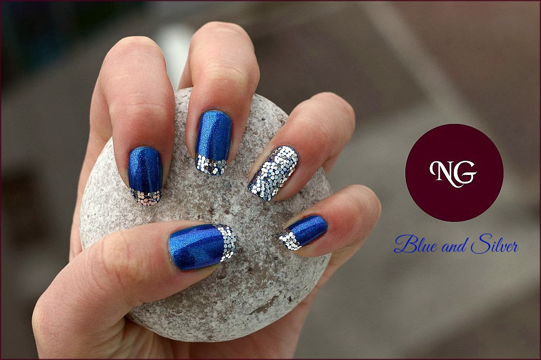 nailglaze getting ready for christmas 5 blue and silver - Blue Christmas Nails