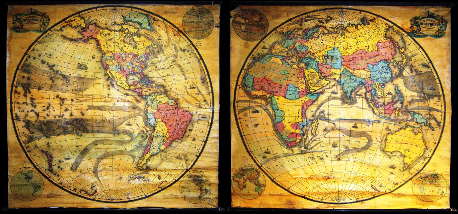 Ancient world maps world map 19th century gumiabroncs