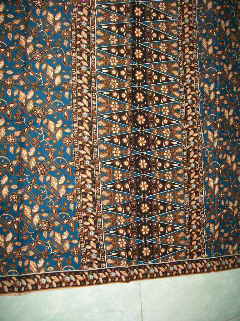 Harga Batik Cirebon Warna Biru Dongker 50 Ribu Saja