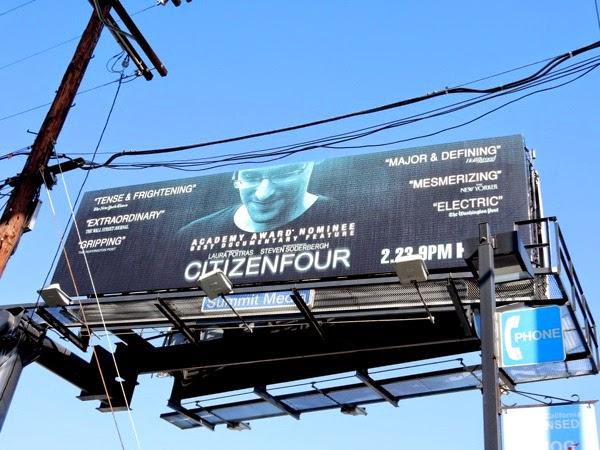 Citizenfour documentary Oscar billboard