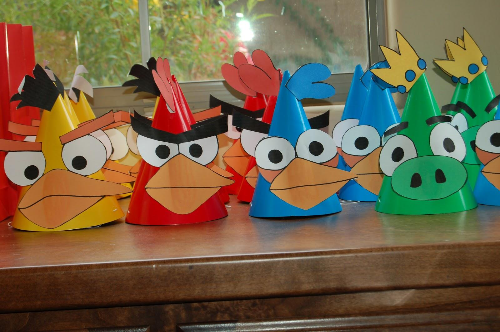 Angry Birds Party Hats