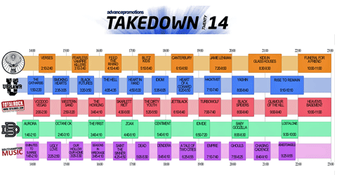 Takedown 2014 Schedule