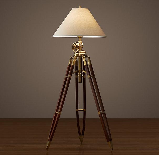 royal marine tripod floor lamp from restoration hardware just really. Black Bedroom Furniture Sets. Home Design Ideas