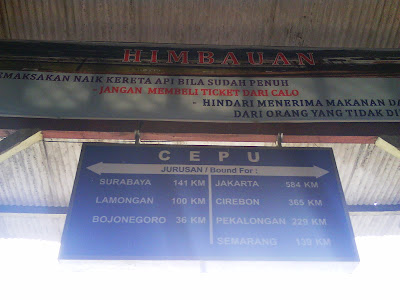 Station,Cepu train, Cepu travel